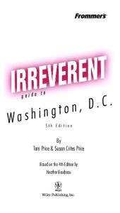 Frommer's Irreverent Guide to Washington, D.C., 5th Ed  (2004)  (Irreverent Guides)