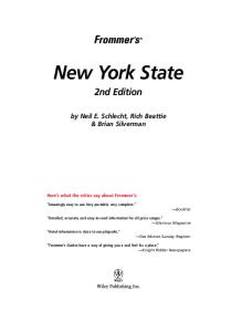 Frommer's New York State  (2005) (Frommer's Complete)