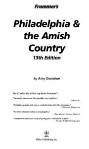 Frommer's Philadelphia & the Amish Country  (2005) (Frommer's Complete)
