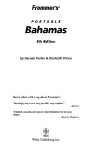 Frommer's Portable Bahamas  (2005) (Frommer's Portable)