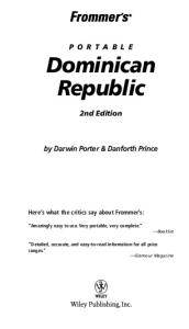 Frommer's Portable Dominican Republic  (2005) (Frommer's Portable)