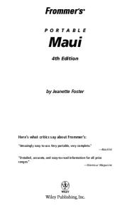 Frommer's Portable Maui (2005)  (Frommer's Portable)