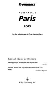 Frommer's Portable Paris 2005