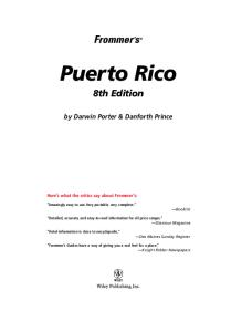 Frommer's Puerto Rico, Eighth Edition