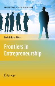 Frontiers in Entrepreneurship (Perspectives in Entrepreneurship)