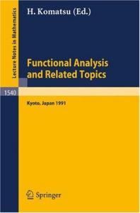 Functional Analysis and Related Topics, 1991