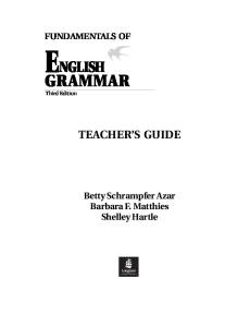 Fundamentals of English Grammar: Teachers Book Full Text (Azar English Grammar)