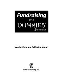 Fundraising For Dummies (For Dummies (Business & Personal Finance))