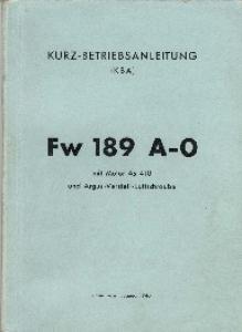 Fw 189A Kurz-Betriebsanleitung