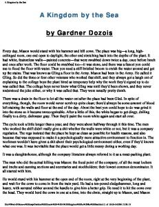 Gardner Dozois - A Kingdom by the Sea
