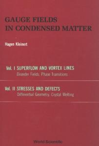 Gauge fields in condensed matter