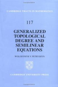 Generalized topological degree and semilinear equations