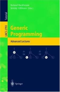 Generic programming: advanced lectures