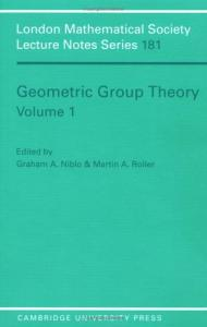 Geometric group theory: - Proc. Symp. in Sussex, 1991