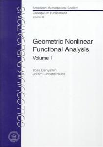 Geometric Nonlinear Functional Analysis: 1
