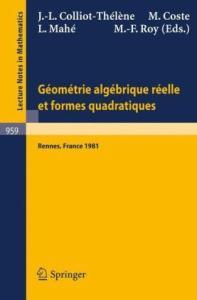 Geometrie Algebrique Reelle et Formes Quadratiques