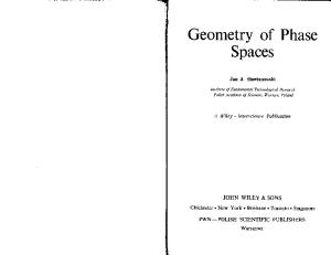 Geometry of Phase Spaces