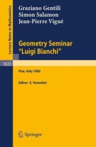 Geometry Seminar Luigi Bianchi