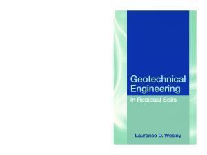 Geotechnical Engineering in Residual Soils