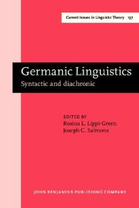 Germanic linguistics: syntactic and diachronic (Current Issues in Linguistic Theory)