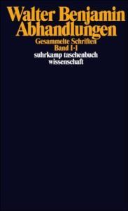 Gesammelte Schriften, Bd. 1: Abhandlungen