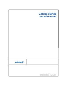 Getting Started AutoCad Electrical 2005- Electrical Manual