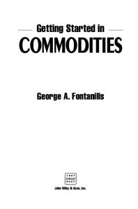 Getting Started in Commodities (Getting Started In.....)