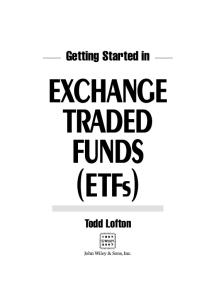 Getting Started in Exchange Traded Funds (ETFs) (Getting Started In.....)