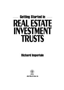 Getting Started in Real Estate Investment Trusts (Getting Started In.....)