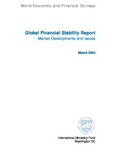 Global Financial Stability Report: Market Developments and Issues (World Economic & Financial Surveys)