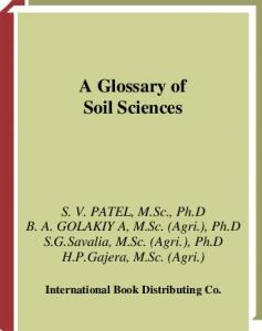 Glossary of Soil Sciences