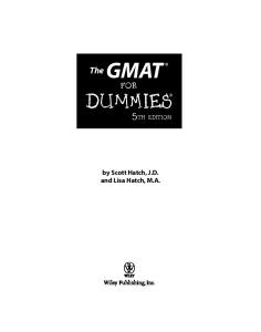 GMAT For Dummies (Gmat for Dummies)