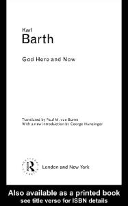 God Here and Now (Routledge Classics)