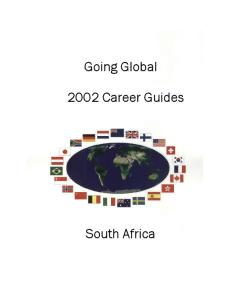 Going Global 2002 Career Guides South Africa