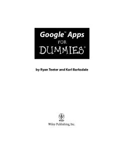 Google Apps For Dummies (For Dummies (Computer Tech))