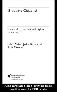 Graduate Citizens?: Issues of Citizenship and Higher Education