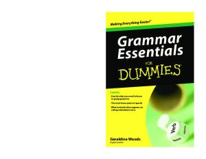 Grammar Essentials For Dummies (For Dummies (Language & Literature))