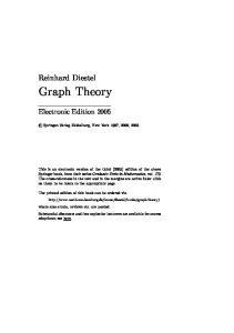 Graph Theory, Third Edition (Graduate Texts in Mathematics 173)