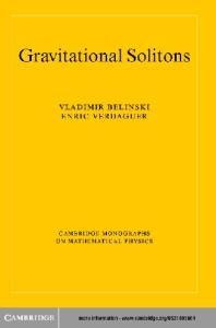 Gravitational Solitons (Cambridge Monographs on Mathematical Physics)