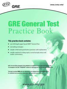 GRE General Test Practice