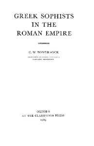 Greek Sophists in the Roman Empire