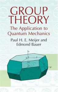 Group theory: the application to quantum mechanics