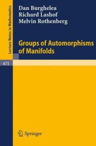 Groups of Automorphisms of Manifolds