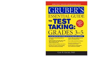 Gruber's Essential Guide to Test Taking: Grades 3-5 (Gruber's Essential Guide To...)