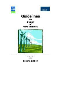 Guidelines for design of wind turbines Copenhagen