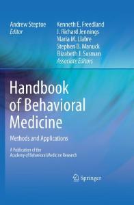 Handbook of Behavioral Medicine: Methods and Applications