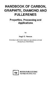 Handbook Of Carbon, Graphite, Diamond And Fullerenes
