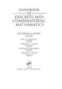Handbook of Discrete and Combinatorial Mathematics, Second Edition (Discrete Mathematics and Its Applications)