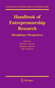 Handbook of Entrepreneurship Research: Disciplinary Perspectives