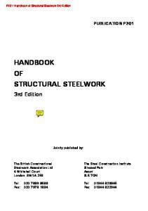 Handbook of Structural Steelwork